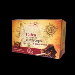 Cafea cu extract de Cordyceps si Ganoderma (20 plicuri)